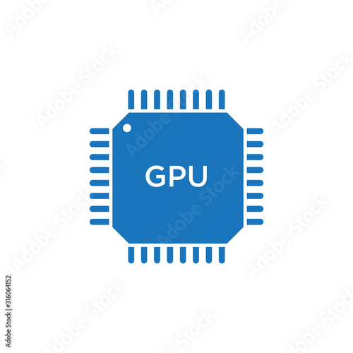 Obraz na plátně GPU icon. Circuit board. vector illustration