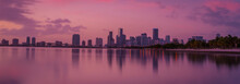City Sunset Water Reflection L...