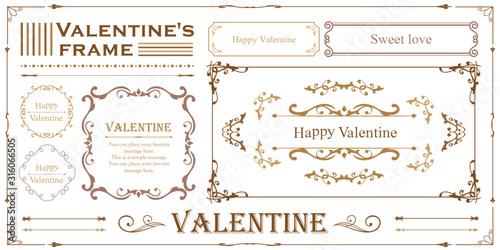 ホイップクリームのデコレーション素材 バレンタインデー フレーム