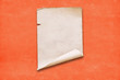 canvas print picture - paper on red wall