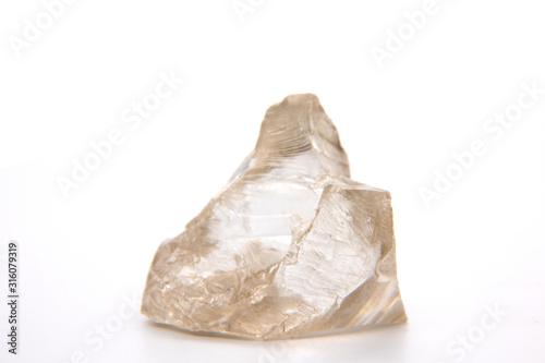 Crystals of major industrial lithium niobate ore spodumene. Canvas Print