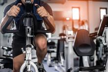 Fitness Man Doing Exercise Bik...