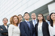 Group of business people standing outdoors