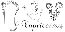 Hand Drawn Zodiac Capricorn Co...