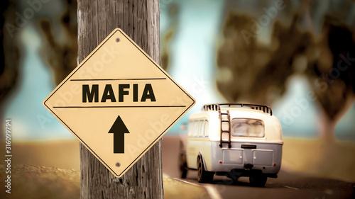 Fotografie, Tablou  Street Sign to Mafia