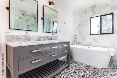 Obraz interior of modern kitchen - fototapety do salonu