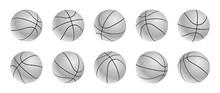 Set Of Blak And White Basketba...