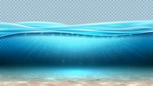 Realistic Sea Underwater Scene...