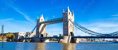 fototapeta na lodówkę ロンドン タワー・ブリッジ ワイド