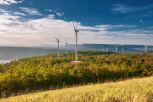 Electric Wind Turbine Landscape