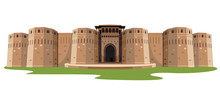 Indian Fort Isolated Vector