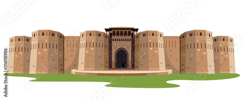 Fotografija indian fort isolated vector