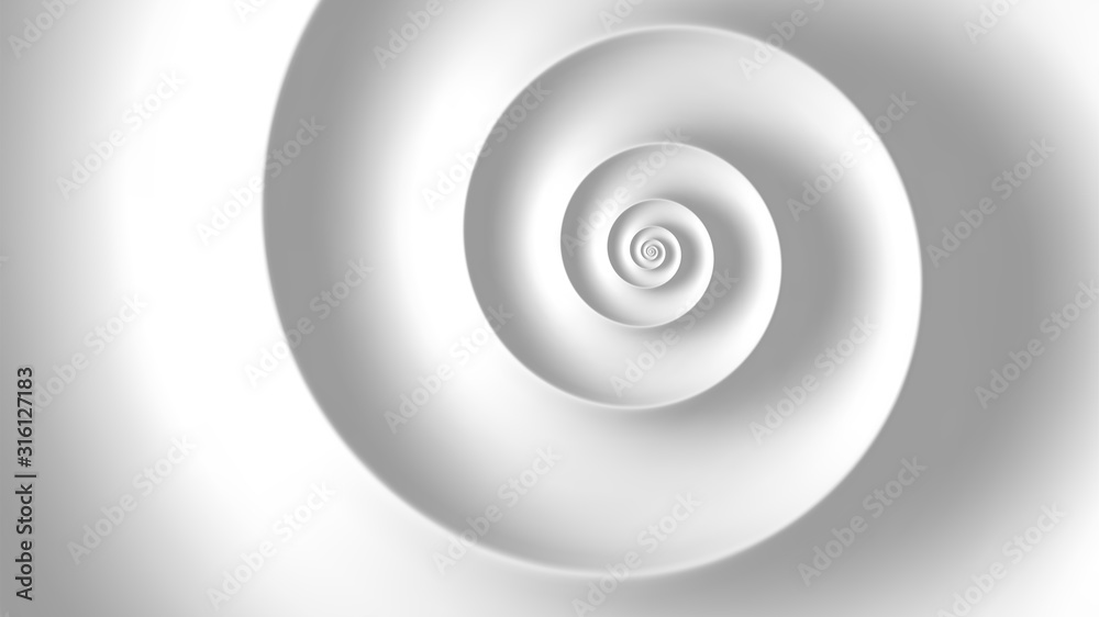 Fototapeta Fibonacci spiral white abstract background