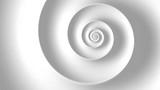Fibonacci spiral white abstract background