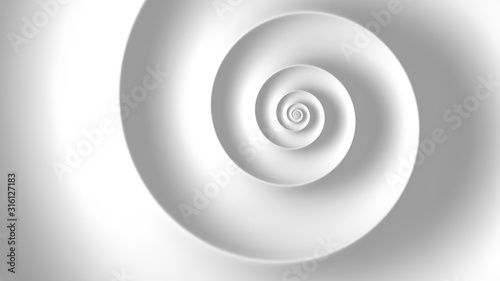 Foto Fibonacci spiral white abstract background