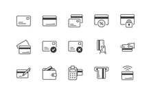 Credit Card Icons Set