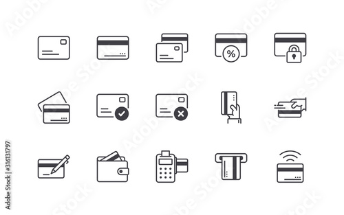 Fototapeta Credit Card Icons Set obraz