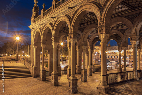 Photo  Plaza de Espana of Sevilla