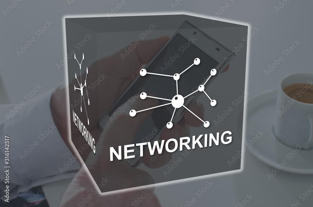 Fototapeta Concept of networking