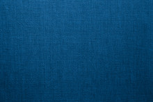 Blue Linen Fabric Background O...