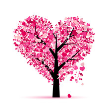 Love Tree. Valentines Day Card...