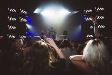 Crowd Cheering For DJ Performi...