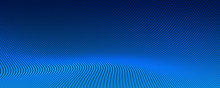 Blue Particles Floor Banner De...