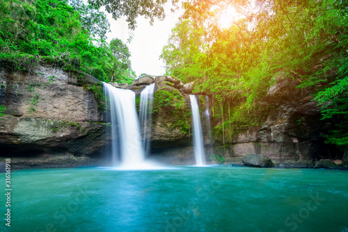 Haew Suwat Waterfall at Khao Yai National Park, Thailand