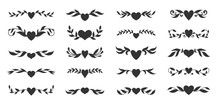 Heart Floral Wing Divider Love...
