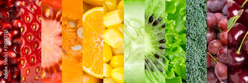Collection with different fruits and vegetables - 316163515