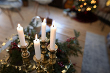 Advent Candles In Christmas Li...