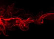 Red Smoke On Black Background,...