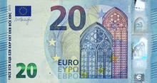 Fragment Part Of 20 Euro Bankn...