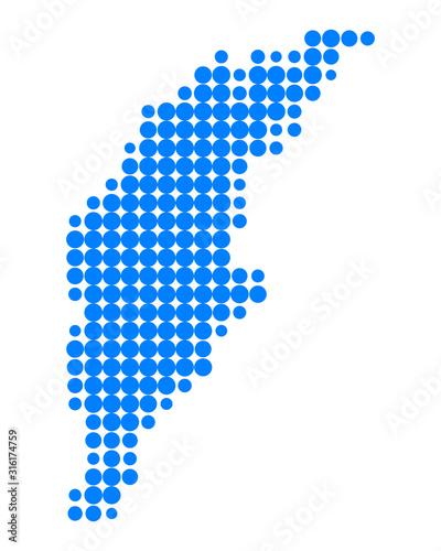 Cuadros en Lienzo Karte von Gotland