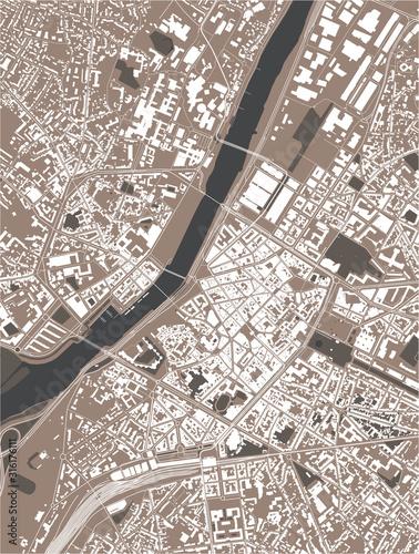 Photo map of the city of Angers, Maine-et-Loire, Pays de la Loire, France