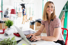 Smiling, Confident Businesswom...