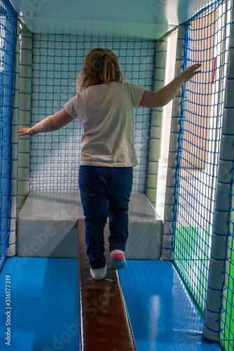 Photo Indoor playground for little kids activity.
