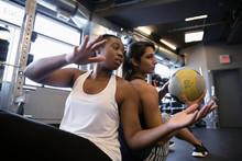 Women Exercising With Medicine...