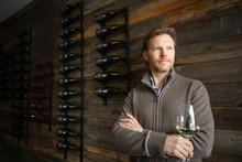 Portrait Confident Winemaker D...