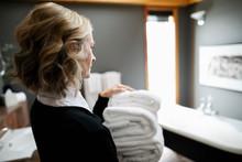 Female Room Service Hotel Staf...