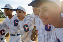 Confident Latinx Baseball Team...