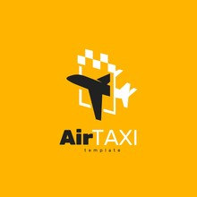 Airplane Taxi Logo Transportation