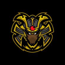 Mouse Samurai Mascot Logo Design