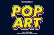 Strong bold retro pop art text effect