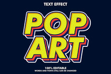 Strong Bold Retro Pop Art Text Effect