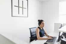 Businesswoman Working At Compu...