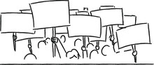 Crowd Of Protesters Concept,hu...
