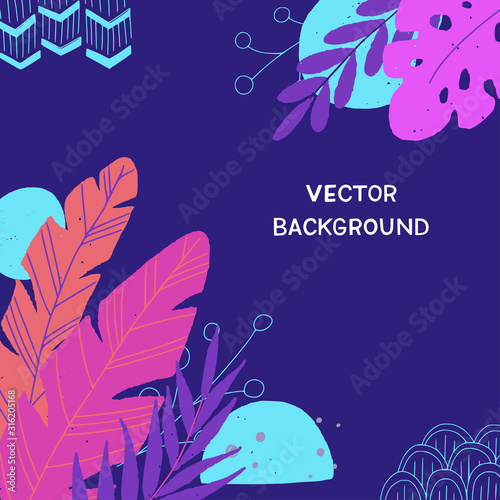 Flat style floral background