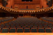 Rows Of Seats In Empty Auditorium