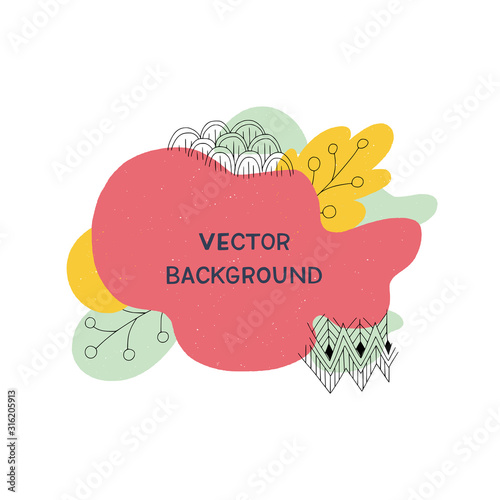 Abstract vector modern frame